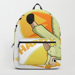 Happy Like An Alpaca Llama Lucky Happiness Backpack