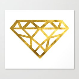 Gold Diamond Canvas Print