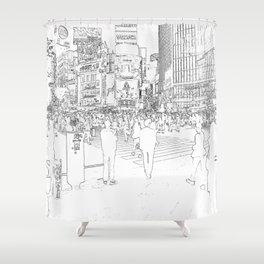 Tokyo citylife Shower Curtain