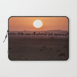 Sunset in the palm trees Laptop Sleeve
