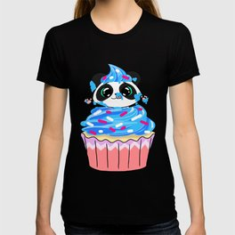 A Panda Popping out of a Cupcake T-shirt