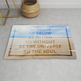 As the Universe, So the Soul Rug