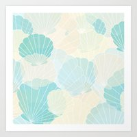 shells Art Prints featuring Shells by Karen Hischak