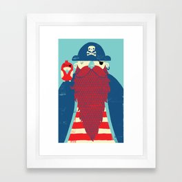 Old Captain Redbeard Framed Art Print