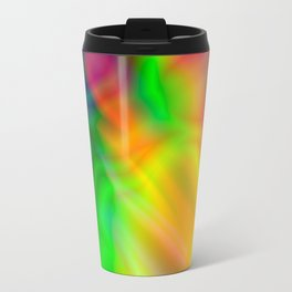Abstract Iridescent Water Travel Mug