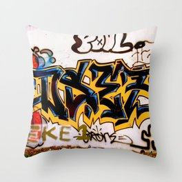 Black and Yellow Tag Throw Pillow