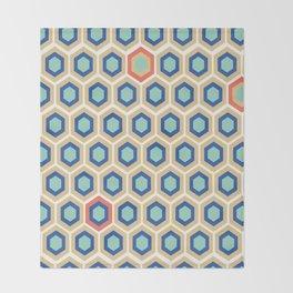 Digital Honeycomb Throw Blanket