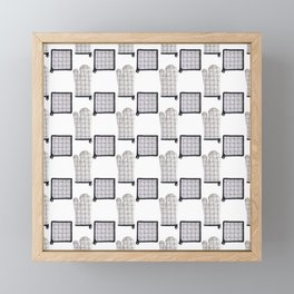 Oven Glove and Pot Mitt Holder Polka Dot Pattern Framed Mini Art Print