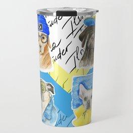 Dog Illustrations - cool dogs Travel Mug