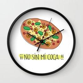 No sin mi coca Wall Clock
