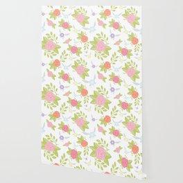 Garden of Fairies Pattern Wallpaper