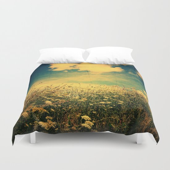 Counting Flowers Like Stars - Color Version Duvet Cover