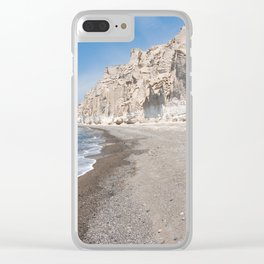 Santorini Vlichada beach Clear iPhone Case