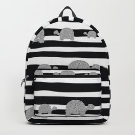 Silver turtle pattern Backpack