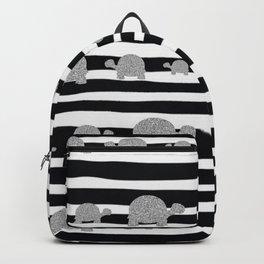 Silver turtle pattern Backpack