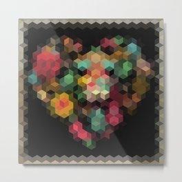 Geometric patchwork Metal Print