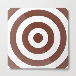 Target (Brown & White Pattern) Metal Print