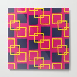 Square Shapes Seamless Pattern 018#001 Metal Print