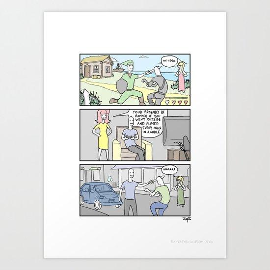 Life outside Art Print
