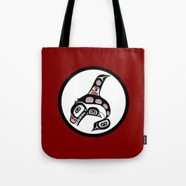 Northwest Pacific coast Haida art Killer whale Tote Bag