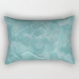 Ice Green Marble Rectangular Pillow