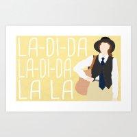 """annie hall Art Prints featuring Annie Hall """"La-Di-Da"""" by DeanFred Rex"""