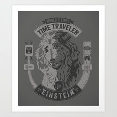 World's First Time Traveler Art Print