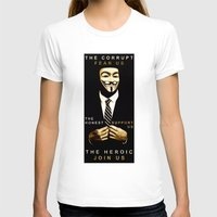 anonymous T-shirts featuring anonymous by Adam Cieslik
