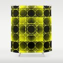 Circles, Grids and Shadows in Black and Yellow by lindamillar