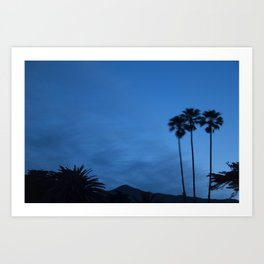 Sunrise 3 Blue Art Print