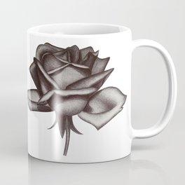 Black and White Rose in Ink Coffee Mug