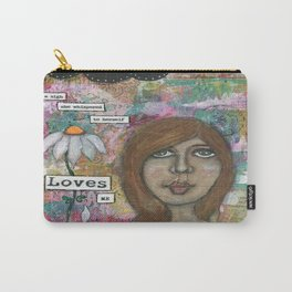 He loves me , He loves me not! Carry-All Pouch