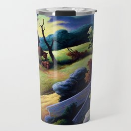 Classical Masterpiece 'June Morning, 1945' by Thomas Hart Benton Travel Mug