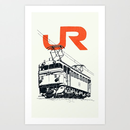 On Paper: JR EF65-100 Art Print