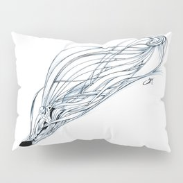 'Snowboarder in Ribbons of Snow II' Pillow Sham