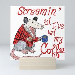 Screamin' Possum Coffee Mini Art Print
