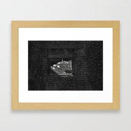 Back Window - Black and White Framed Art Print