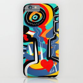 Wild Heart Street Art Graffiti Primitive iPhone Case