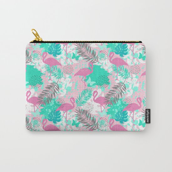 Flamingo. Abstract pattern Carry-All Pouch