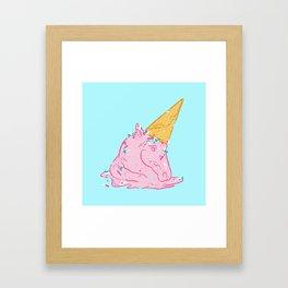 Unicorn melts Framed Art Print
