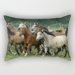 Arabian Horses Rectangular Pillow