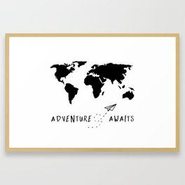 Adventure Map II Framed Art Print