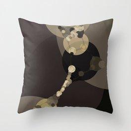 tara - dark abstract of tan chestnut brown taupe yellow beige Throw Pillow