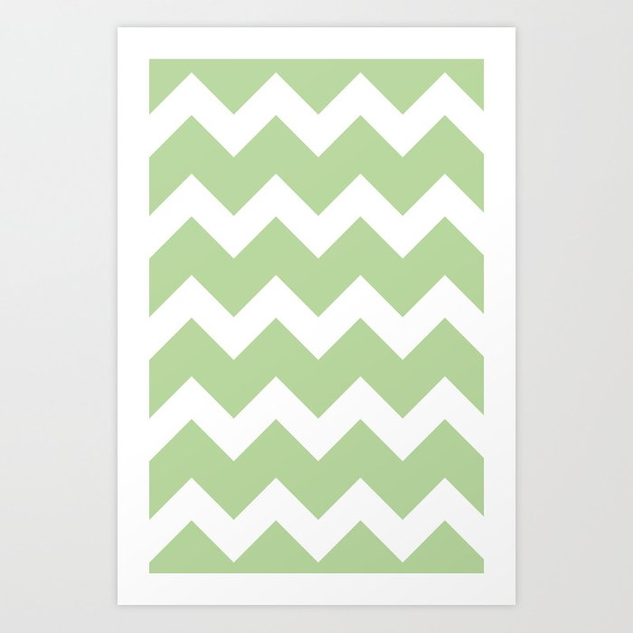 Chevron - Mint Art Print
