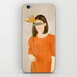 Woman with a Flower iPhone Skin