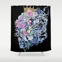Wolf in No One Clothing Shower Curtain