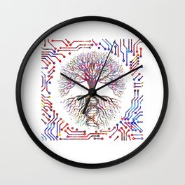Tree of life with the roots of DNA, Wall Clock