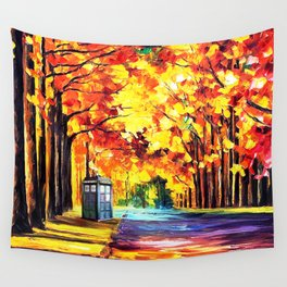 Tardis Stay Alone Wall Tapestry