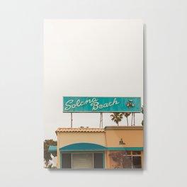 Solona Beach Metal Print