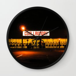Coin Laundry Wall Clock